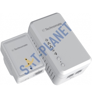 Technomate 600mbps Powerline Set with WiFi