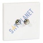 Twin F-Type Wall Plate (Screened)