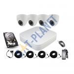 4 High Definition Camera Kit 1080P Varifocal 2.8-12mm Dome
