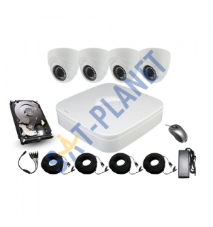 4 High Definition Camera Kit 1080P Varifocal 2.8-12mm Dome + 1TB Surveillance HDD