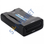 HDMI to SCART Video Converter Scaler + Power Adapter