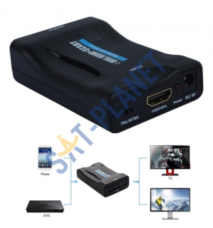 HDMI to SCART Video Converter Scaler + Power Adapter image