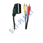 SCART to RCA Cable Switchable - 1.5M