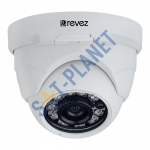 AHD Mini Dome Camera, 720p, 3.6mm Fixed Lens, 15m IR, 12v DC (RZHD-720-1)