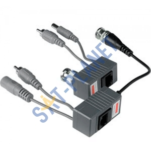 Video, Audio & Power over CAT5 cable Balun Kit