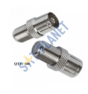 Coaxial Female to F Female Adapter