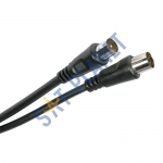 Coaxial Jack to Coaxial Plug Fly Lead (1.5m)