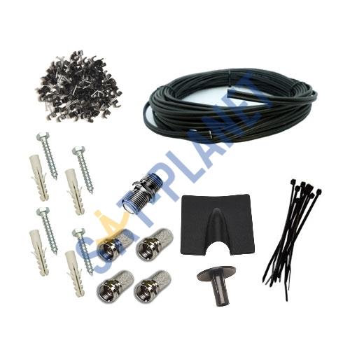 Cable Installation Kit : Diy installation kit for satellite dish single room