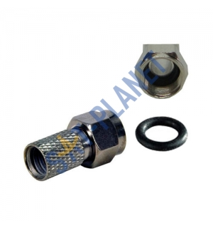 F connector - Premium with O-Ring (100 Pack) image