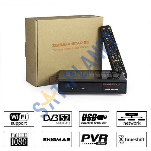 Zgemma Star S Satellite Receiver DVB-S2 IPTV LAN Linux