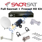 Full Saorsat & Freesat Kit Including HD Receiver