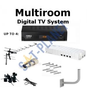 Multiroom Digital TV Box & Aerial Kit