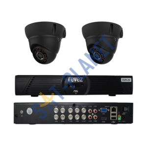 8CH HDMI Security Video DVR Idoor IR 600 TVL CCTV Security 2 Cameras System Kit
