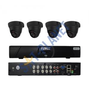 8CH HDMI  CCTV Security 4 Cameras System Kit