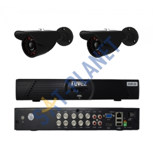 CUSTOM REVEZ 8CH HDMI Security Video DVR CCTV Security Cameras System Kit