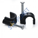 Black 7mm Cable Clips