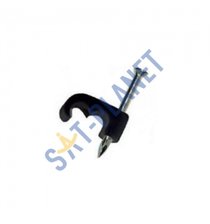 Black Mini 10mm Shotgun Cable Clips