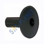 Black Single 7mm Cable Grommet
