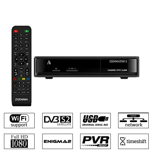 Zgemma Star S Satellite Receiver DVB-S2 IPTV LAN Linux Enigma 2