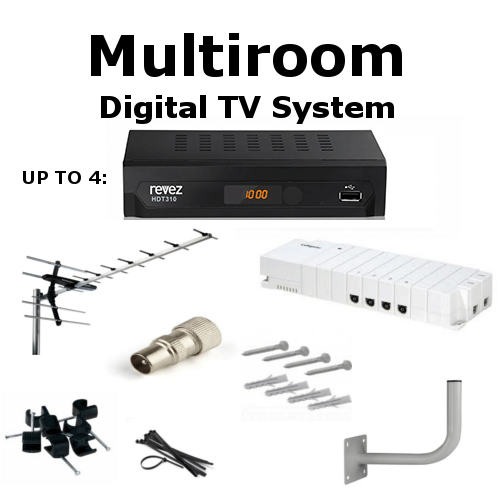 multiroom digital tv box aerial kit ireland from sat. Black Bedroom Furniture Sets. Home Design Ideas