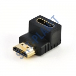 HDMI Female to HDMI Male Gold Plated Angled Adapter 90 degree