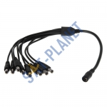 8 way DC Power Splitter Cable for CCTV