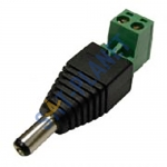 DC Male 2.1mm Power Plug Adapter for CCTV