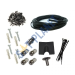 DIY installation kit for Satellite dish (Single room) - Twin cable