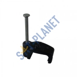 Black 13mm Cable Clips